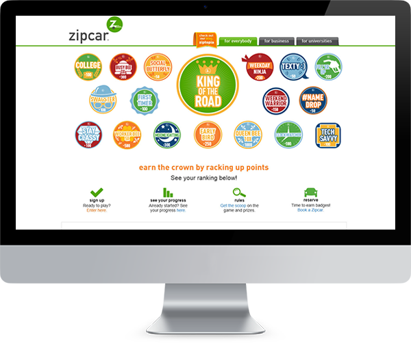 Zipcar's King of the Road powered by PeopleVine