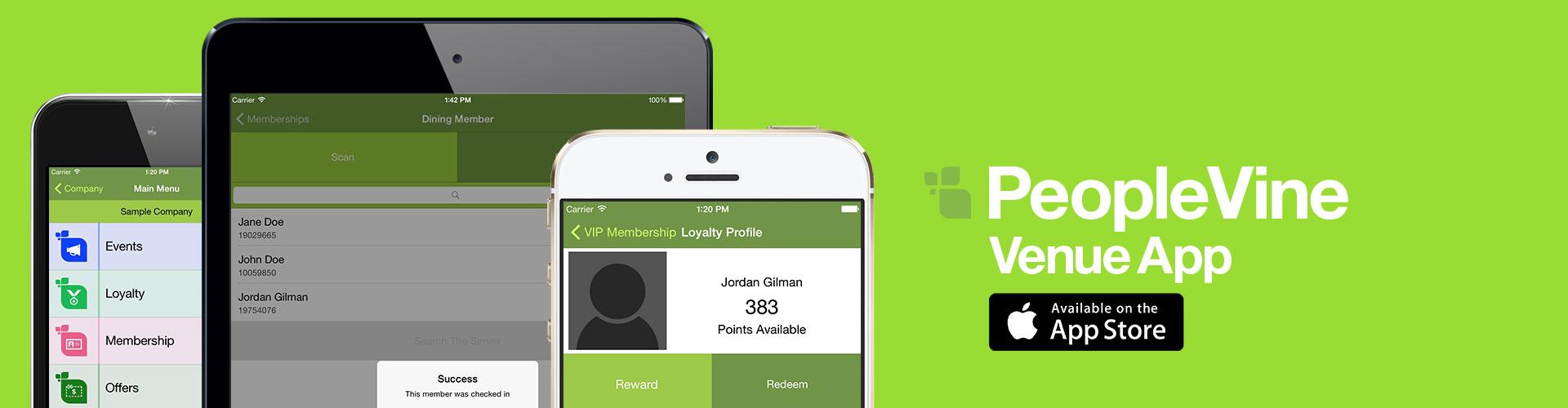 Download the PeopleVine Venue App